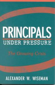 Cover of: Principals Under Pressure