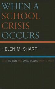 Cover of: When a School Crisis Occurs