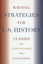 Cover of: Writing Strategies for U.S. History Classes