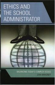 Cover of: Ethics and the School Administrator