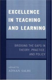 Cover of: Excellence in Teaching and Learning