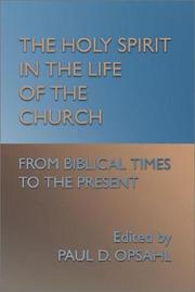 Cover of: The Holy Spirit in the life of the church