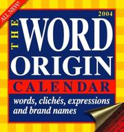 Cover of: 2004 The Word Origin Calendar