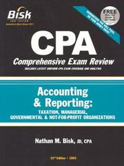 Cover of: CPA Comprehensive Exam Review, 2003 | Nathan M. Bisk