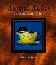 Cover of: Cat Record Book (Animal Antics)