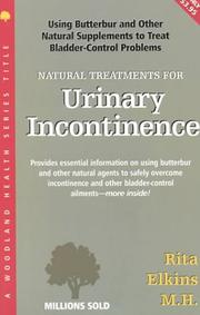 Cover of: Natural Treatments for Urinary Incontinence | Rita Elkins
