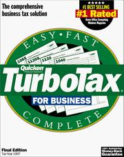 Cover of: TurboTax for Business