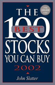 Cover of: The 100 Best Stocks You Can Buy, 2002