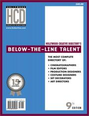 Below-the-Line Talent Directory, 9th Edition (Below the Line Talent Directory)
