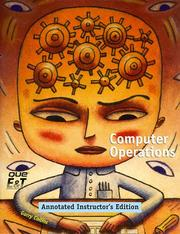 Cover of: Computer Operations with CDROM | Gary Collins