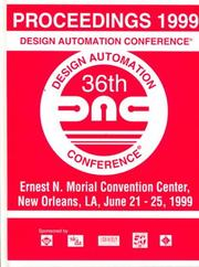 Cover of: Proceedings 1999 Design Automation Conference | IEEE