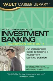 Cover of: Vault Career Guide to Investment Banking, European Edition