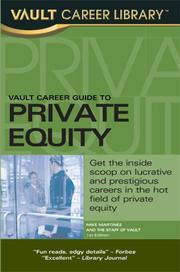 Cover of: Vault Private Equity Career Guide | Mike Martinez