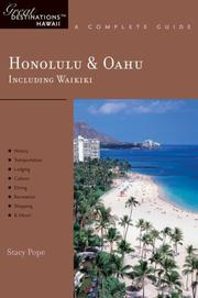 Cover of: Honolulu & Oahu: Great Destinations Hawaii | Stacy Pope