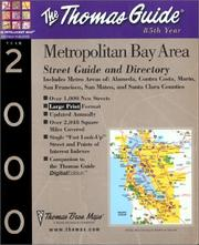 Cover of: Thomas Guide 2000 Metropolitan Bay Area | Thomas Brothers Maps