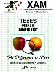 TEXES - FRENCH SAMPLE TEST (Excet Series)