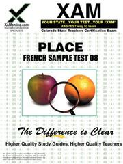 Cover of: PLACE French Sample Test 08 | Sharon Wynne