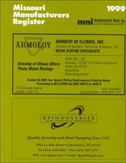 Cover of: Missouri Manufacturers Register, 1999 |