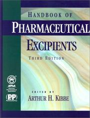 Cover of: Order the Handbook of Pharmaceutical Excipients | Arthur H. Kibbe