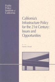 Cover of: California's Infrastructure Policy for the 21st Century