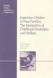 Expensive Children in Poor Families by Marcia Meyers, Henry E. Brady, Eva Y. Seto