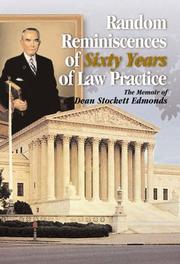 Cover of: Random Reminiscences of Sixty Years of Law Practice | Charles Miller