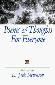 Cover of: Poems and Thoughts for Everyone | L. Jack Stevenson