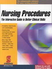 Cover of: Nursing Procedures
