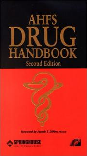 Cover of: AHFS Drug Handbook