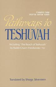 Cover of: Pathways to Teshuvah