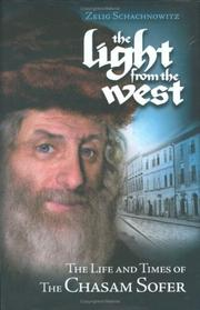 Cover of: Light From The West | Zelig Schachnowitz