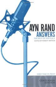 Cover of: Ayn Rand Answers | Robert Mayhew