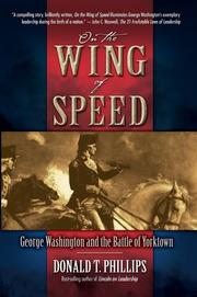 Cover of: On the Wing of Speed: George Washington and the Battle of Yorktown