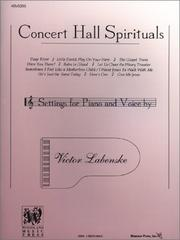 Cover of: Concert Hall Spirituals
