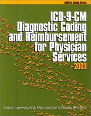 Cover of: ICD-9-CM Diagnostic Coding and Reimbursement for Physician Services, 2003 | Carole A. Venable