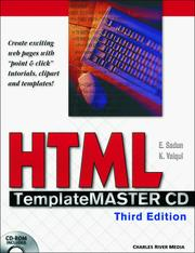 Cover of: HTML Template Master CD ROM, Third Edition | E. Sadun