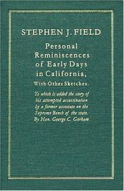 Cover of: Personal reminiscences of early days in California