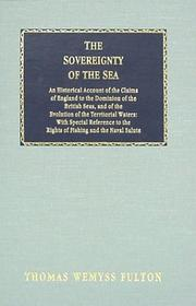 The sovereignty of the sea by Thomas Wemyss Fulton