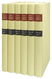 Cover of: Opera Omnia...The Complete Works of John Selden...3 Volumes in 6 Books with searchable DVD for the entire set