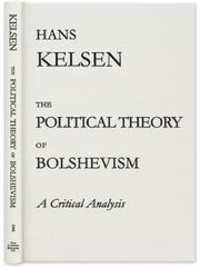 Cover of: The Political Theory of Bolshevism