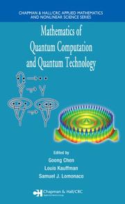 Cover of: Mathematics of Quantum Computation and Quantum Technology (Applied Mathematics and Nonlinear Science) |