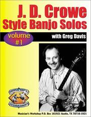 Cover of: Learn J.D. Crowe Bluegrass Scruggs Style Banjo Solos