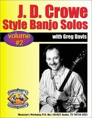Cover of: J.D. Crowe Bluegrass Scruggs Style Banjo Solos #2