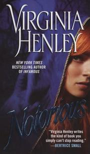 Cover of: Notorious | Virginia Henley