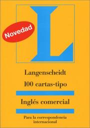 Cover of: 100 cartas-tipo Inglés comercial |