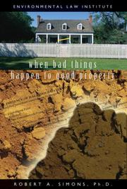 Cover of: When Bad Things Happen to Good Property | Robert A. Simons; Ph.D.