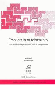 Cover of: Frontiers in Autoimmunity | M Zouali