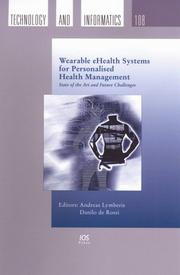 Cover of: Wearble eHealth Systems for Personalised Health Management | Andreas Lymbaris