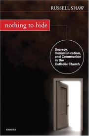 Cover of: Nothing to Hide