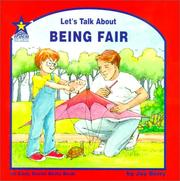 Cover of: Let's Talk About Being Fair